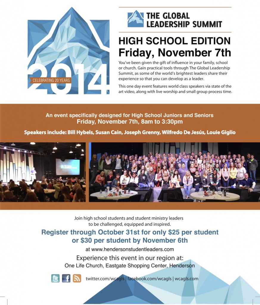 2014 GLS High School flyer